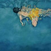 Swimmer In Yellow Art Print