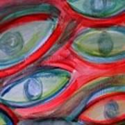 Swimming eyes Art Print