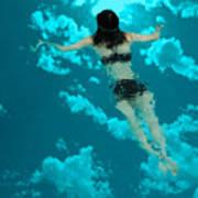 Swimming In The Sky Art Print
