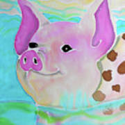 Swimming Piggy Art Print