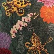 Swimming Through Flowers Art Print