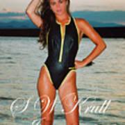 Swimsuit Girl Ad Art Print