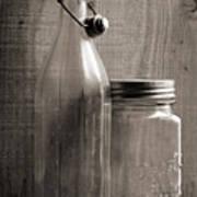 Jar And Bottle  Art Print
