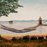 Swingin On Sebago Art Print