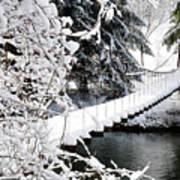 Swinging Bridge Over Gauley River Art Print