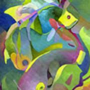 Swirling Fish Art Print