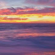Swirling Ocean And Sky Art Print
