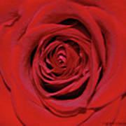 Swirling Red Silk Art Print