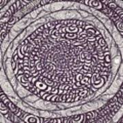 Swirling Spirals Art Print