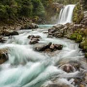 Swirling Waters - Tawhai Falls Art Print