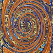 Swirls Of Rust Art Print