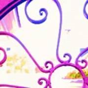 Swirls On A Gate Art Print