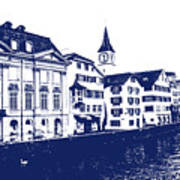 Swiss City Art Print