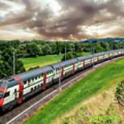 Swiss Passenger Train Art Print