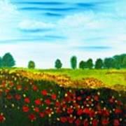 Swiss Poppies Art Print