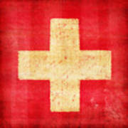 Switzerland Flag Print by Setsiri Silapasuwanchai