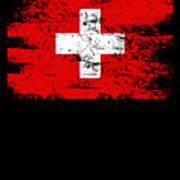 Switzerland Gift Country Flag Patriotic Travel Shirt Europe Light Art Print