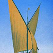 Switzerland, Lake Geneva, Montreux, Sailing Boat Art Print