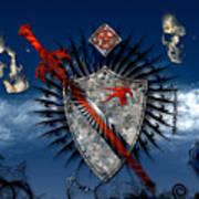 Sword And Shield Art Print