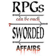 Sworded Affairs Light Art Print