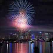 Sydney Fireworks Art Print