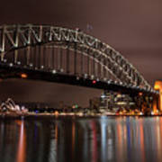 Sydney Harbor At Night Art Print
