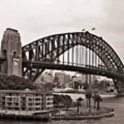 Sydney Harbor Bridge Platinum Art Print