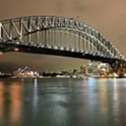 Sydney Harbour At Night Art Print