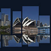 Sydney Harbour Collage Art Print
