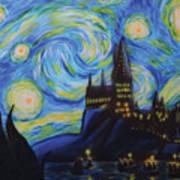Syfy- Starry Night In Hogwarts Art Print