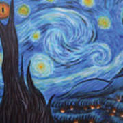 Syfy- Starry Night In Mordor Art Print