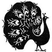 Symbol: Peacock Art Print
