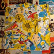 Symbols with Alberobello Art Print