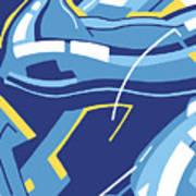 Symphony In Blue - Movement 4 - 3 Art Print