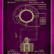 System Of Electrical Distribution Patent Drawing 2c Art Print
