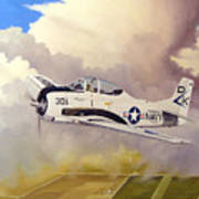 T-28 Over Iowa Art Print