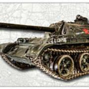 T-54 Soviet Tank W-bg Art Print