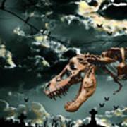 T-rex Graveyard Art Print