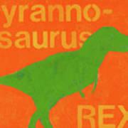 T Rex Art Print