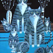 Tabby Family Art Print