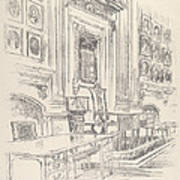 Table And Chair, Signers' Room, Independence Hall Art Print