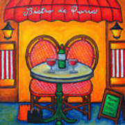 Table For Two In Paris Art Print