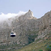 Table Mountain Cable Car Art Print