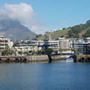 Table Mountain From The V And A Waterfront Quays Art Print