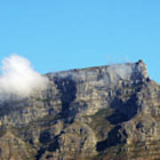 Table Mountain - Still Life With Blue Sky And One Cloud Art Print