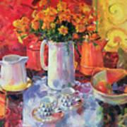 Table Reflections Art Print
