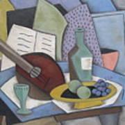 Table With Mandolin Art Print