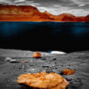 Tabletop Boulder Lake Powell Art Print