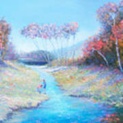 Tadpoling By The River Art Print