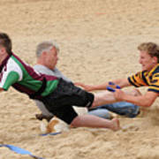 Tag Beach Rugby Competition Print by David  Hollingworth